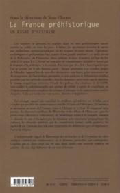 La France préhistorique ; un essai d'histoire - 4ème de couverture - Format classique