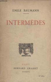 Intermedes. - Couverture - Format classique