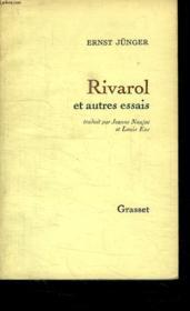 Rivarol Et Autres Essais. - Couverture - Format classique