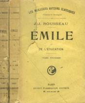 Emile Ou De L'Education. En 2 Tomes. - Couverture - Format classique