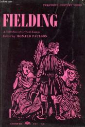 Fielding, A Collection Of Critical Essays - Couverture - Format classique