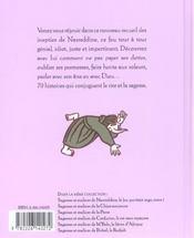 Sagesses et malices de nasreddine, le fou qui etait sage - tome 2 - 4ème de couverture - Format classique