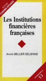 Les institutions financieres francaises - Couverture - Format classique