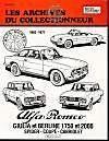 Alfa romeo giulia 1600-1750-2000 (1962-1977) n 36 - Couverture - Format classique