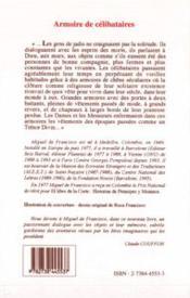 Armoire De Celibataires - 4ème de couverture - Format classique