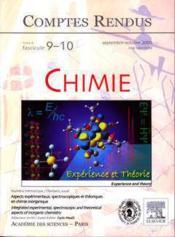 Comptes rendus academie des sciences, chimie, t.8, fascicule 9-10, septembreoctobre 2005 : aspects exp - Couverture - Format classique