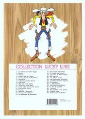 Lucky Luke T.5 ; Lucky Luke contre Pat Poker - 4ème de couverture - Format classique