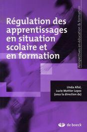 Régulation des apprentissages en situation scolaire et en formation - Intérieur - Format classique