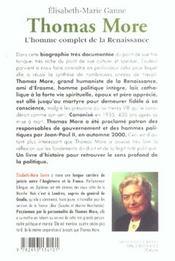 Thomas more - 4ème de couverture - Format classique