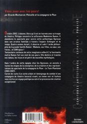 Viens jouer avec tes peurs ; chronique romanesque de montserrat, phéraille et le phun - 4ème de couverture - Format classique