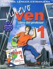 Nuevo ven 1 - guide pedagogique - version papier + cd - Couverture - Format classique