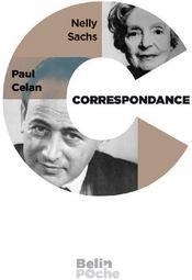 Correspondance Sachs-Celan (1954-1969) - Couverture - Format classique