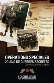 Opérations spéciales ; 20 ans de guerres secrètes - Couverture - Format classique
