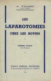 Les laparotomies chez les bovins - Couverture - Format classique