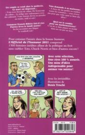 L'officiel de l'humour (édition 2011) - 4ème de couverture - Format classique