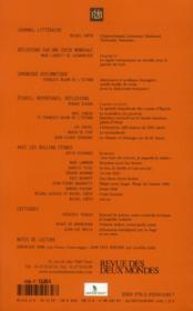 REVUE DES DEUX MONDES ; hommage aux 50 ans des Rolling Stones - 4ème de couverture - Format classique