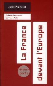 La France devant l'Europe - Couverture - Format classique