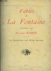 Fables de La Fontaine, illustrées par Benjamin Rabier. - Couverture - Format classique