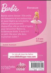 Barbie T.3 ; danseuse - 4ème de couverture - Format classique