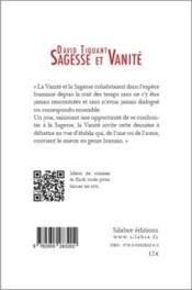 Sagesse et vanité - 4ème de couverture - Format classique