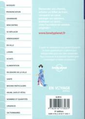 Japonais (9e édition) - 4ème de couverture - Format classique