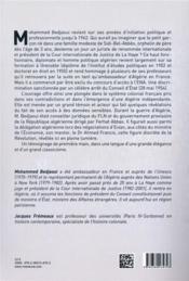 Une révolution algérienne à hauteur d'homme - 4ème de couverture - Format classique