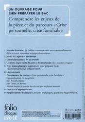 Juste la fin du monde de Jean-Luc Lagarce ; dossier bac - 4ème de couverture - Format classique