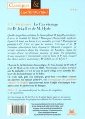 Le cas étrange du Dr Jekyll et de Mr Hyde - 4ème de couverture - Format classique
