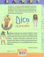 Le dico des égyptiens - 4ème de couverture - Format classique