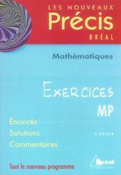 Nouveau précis ; exercices maths mp - Intérieur - Format classique
