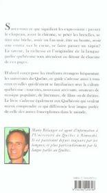 Petit guide parler quebecois (2e édition) - 4ème de couverture - Format classique