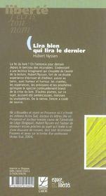 Lira Bien Qui Lira Le Dernier ; Lettre Libertine Sur La Lecture - 4ème de couverture - Format classique