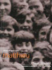 L'évangile selon Saint Mathieu - Intérieur - Format classique