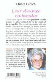 Art D'Aimer En Famille - 4ème de couverture - Format classique