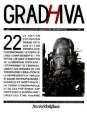 Revue Gradhiva N.22 - Couverture - Format classique