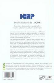 Prevention Des Expositions Accidentelles Chez Les Patients - 4ème de couverture - Format classique