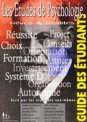Les etudes de psychologie - Intérieur - Format classique