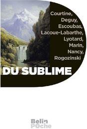 Du sublime - Couverture - Format classique