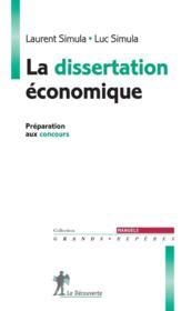 La dissertation économique - Couverture - Format classique