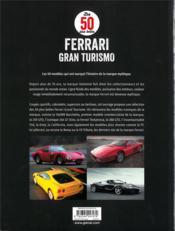 Les 50 plus belles Ferrari Gran Turismo - 4ème de couverture - Format classique