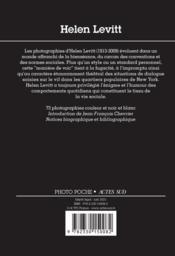 Helen Levitt - 4ème de couverture - Format classique