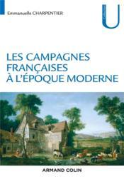 Les campagnes françaises à l'époque moderne - Couverture - Format classique