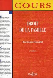 Droit de la famille (2e edition) - Intérieur - Format classique