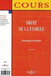 Droit de la famille (2e edition) - 4ème de couverture - Format classique