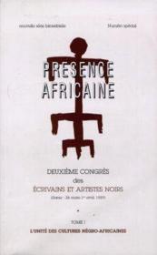 Revue présence africaine N.24/25 ; deuxième congrés des écrivains et artistes noirs t.1 ; l'unité des cultures négro-africaines - Couverture - Format classique