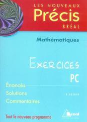 Nouveau précis ; exercices maths pc-psi - Intérieur - Format classique