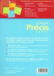 Nouveau précis ; exercices maths pc-psi - 4ème de couverture - Format classique