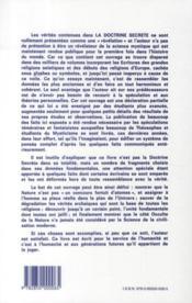 La doctrine secrète t.1 - 4ème de couverture - Format classique
