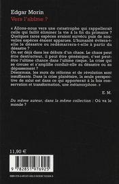 Vers l'abîme ? - 4ème de couverture - Format classique