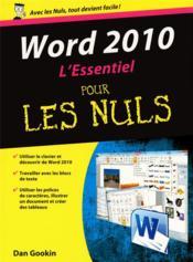 Word 2010 l'essentiel pour les nuls - Couverture - Format classique